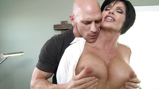 Overwhelming housewife Shay Fox with firm tits likes to ride a rock hard packing monster until she starts screaming