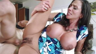 Stupendous latin brunette girlie Ariella Ferrera with impressive tits and a lad are having sex