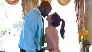 Marvelous girlfriend Monique Alexander with big tits has a buddy who loves to fuck her