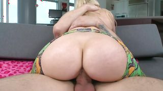 Packing monster begging voluptous floozy Ashley Fires with firm natural tits takes off clothes and spreads legs