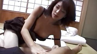 Appealing honey Mio Okazaki with great tits never refused a pole