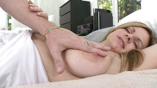 Worshipped busty floosy Keiyra Lina takes a huge shaft in her wet fanny