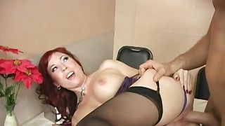 Spicy busty Brittany O'Connell strips in front of a lover