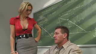 Cute chick Tanya Tate with big tits rides hard dick as a cowgirl