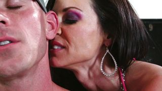 Mesmerizing Kendra Lust with big tits and mate are about to have sex while no one is watching them