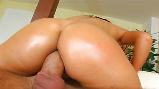 Gorgeous sweetheart Briana with round natural tits is fucked hard like a whore she is