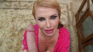 Wicked busty blonde Taylor Wane strips to take a plowing