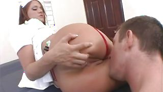 Enchanting girlfriend Savannah Stern with firm natural tits is sucking dude's tool and getting fucked
