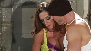 Seductive Ariella Ferrera with great tits has her tight juice vag stretched to the limit