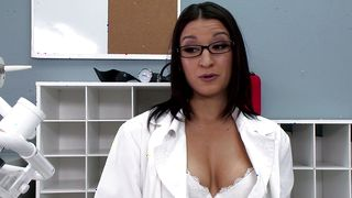 Ambitious Ann Marie Rios with big natural tits likes to get fucked during a gentle caress