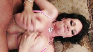 Instead of doing her job goluptious RayVeness with huge natural tits is getting fucked