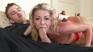 Insatiable blonde sweetheart Tia Layne with large tits know when it is time for her fuck