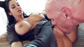 Attractive busty maid Ava Addams and guy are often secretly making love just for fun