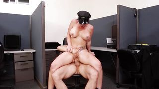 Astonishing Jayden Jaymes with big tits eagerly kneels to take hard love rocket in her mouth