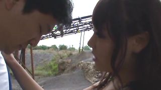 Awesome maiden Mao Hamasaki with big tits bends over for a long love rocket