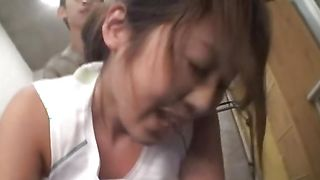 Dangler loving wonderful Yuka Nishii with large tits is eagerly sucking a huge chopper and getting it inside her cunny