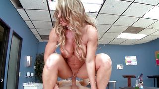 Dishy blonde girlfriend Farrah Dahl with massive tits got throatfucked the way she could not even imagine