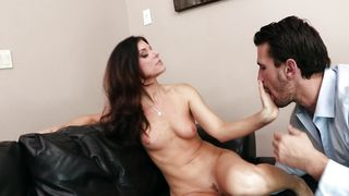 Playmate destroys stupefying chick India Summer with massive natural tits super hard