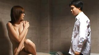 Delightful girlie Yuma Asami with great tits and lover are having a nice fuck time