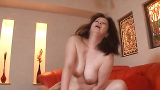 Lewd minx Chizuru Iwasaki with curvy tits is fond of getting dink in mouth and vagina