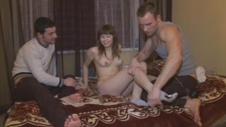 Ravishing floosy Shirley with great natural tits fucked by her fuckmate so deep