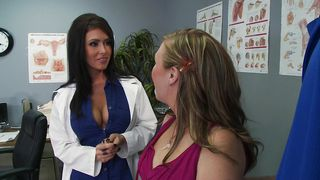 Astounding Jessica Jaymes with great tits places her mouth wide for hard lovestick