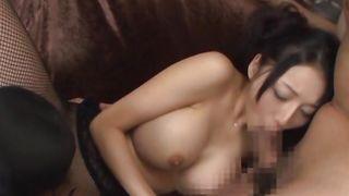 Glamor Miki Ichiki with firm tits rides pal's boner