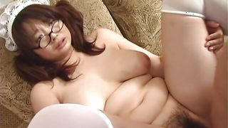 Heavenly busty Sakura Kawamine is eager to strip and suck a firm boner