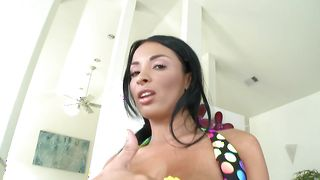Stupendous busty darling Anissa Kate gets intensely spooned