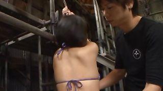Shameless floozy Yuki Maeda with huge tits takes a fresh dick up her cunny