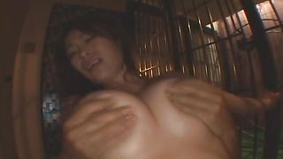 Delicious busty beauty Ryo Momose can't wait to sit on his powerful slim jim