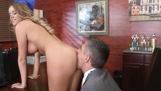 Bf is fucking a engaging blonde Alexis Adams with curvy natural tits while her husband is at work