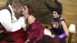 Luxurious redhead girl Romi Rain with round natural tits and stranger are sometimes having sex just for fun