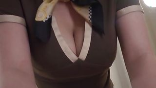 Cunning girl Hinano Uehara with round tits getting her soaking wet cooter plowed hard