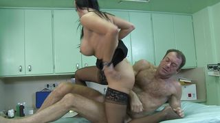 Naked delectable busty lady Vanilla Deville is on the way in pole sucking and fucking hard