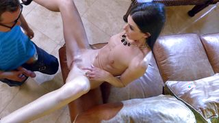 Magical gf India Summer with curvy natural tits is violently impaled on a big fuck stick