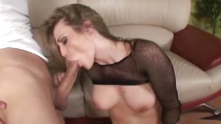 Breathtaking blonde woman Harmony Rose with round natural tits is not shy at all to be honest