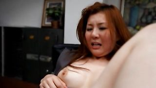 Stranger goes total hardcore mode on an ambitious busty Yui Tatsumi