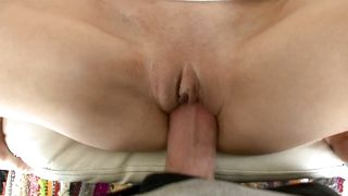 Cunning Mckenzie Lee with big tits is kneeling on the floor and sucking hard lovestick