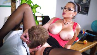 Enchanting cougar Sensual Jane with great natural tits gets her narrow cooter split up and banged roughly