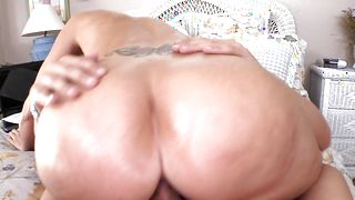 Handsome stud is having an awesome time pounding astounding busty brunette Syren De Mer