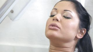 Slender busty Angelica Heart is eager to get her wet love tube pounded