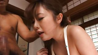 Breathtaking Rio Hamasaki with great tits gets her cooter and ass thoroughly eaten