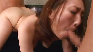Dude got a blowjob from engaging woman Seruka Ichino with curvy tits before he fucked her brains out
