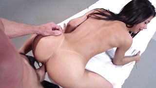 Fascinating latin Veronica Rodriguez with impressive natural tits likes to feel a rock hard fuck stick deep in her cooter