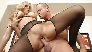 Curvaceous busty blonde Julia Ann pleasures bf