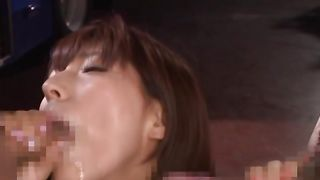 Classy busty Nami Hoshino has wild fuck session with her horny experienced