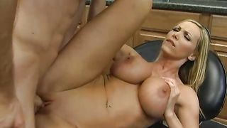Fellow fucked hard a exquisite busty perfection Nikki Benz from behind because she asked for it