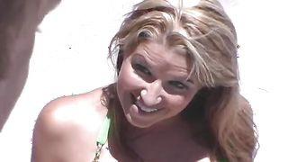 Stunning Kelli Tyler with big natural tits bounces on man's meat
