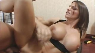 Busty honey Kristine Madison is spicy and ready for some horny pounding